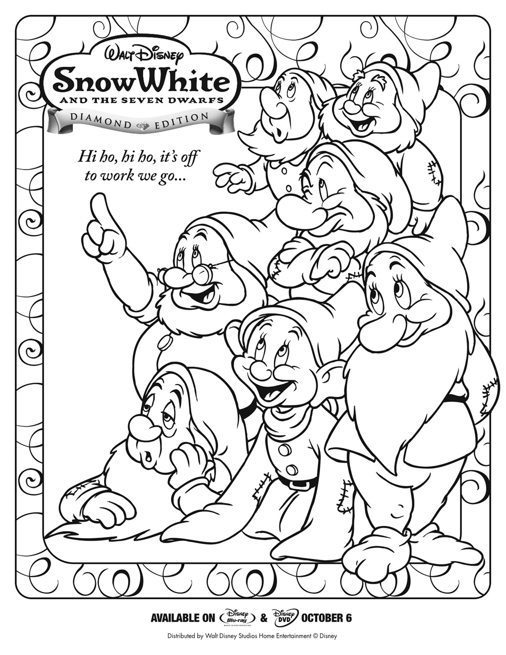 7 Dwarfs Coloring Pages