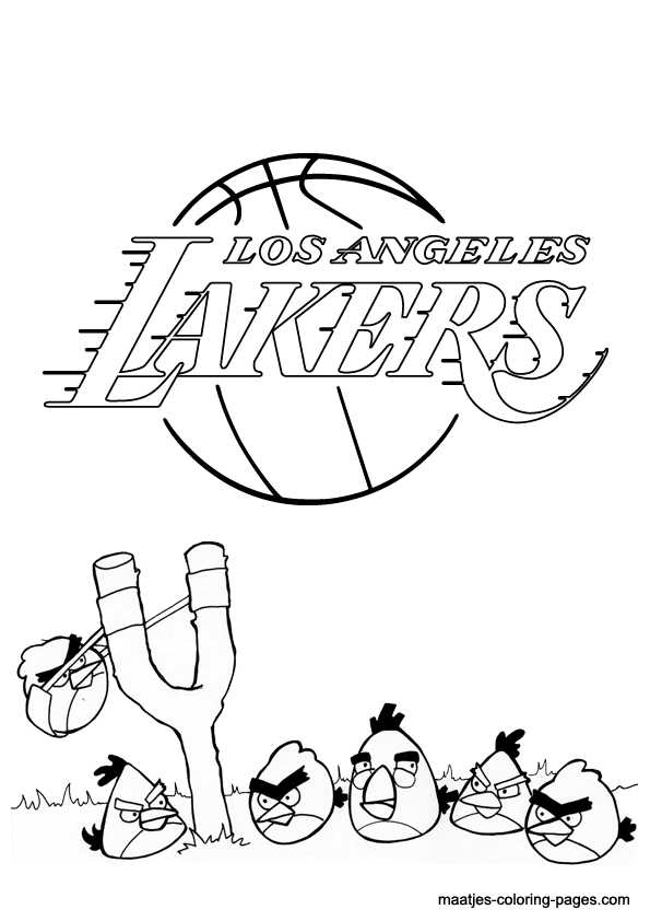 595x842 Los Angeles Lakers Coloring Pages