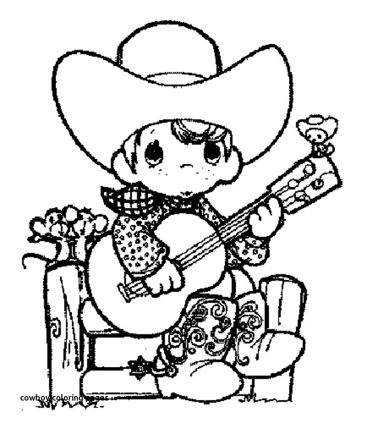 736x848 Best To Child Images On For Cowboy Coloring
