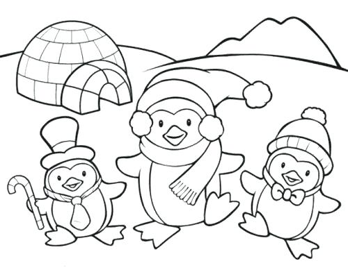 500x399 Barbie Christmas Carol Coloring Pages Free Penguin Cute Family