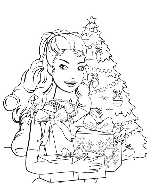 570x750 Barbie In A Christmas Carol Coloring In Pages