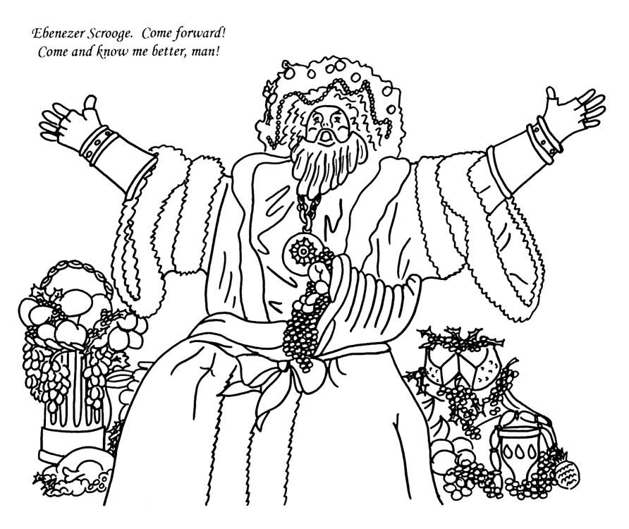 892x750 Christmas Carol Coloring Pages