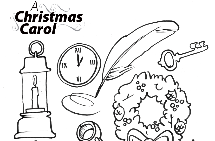 893x586 Colouring Page For A Christmas Carol The Belfry Theatre