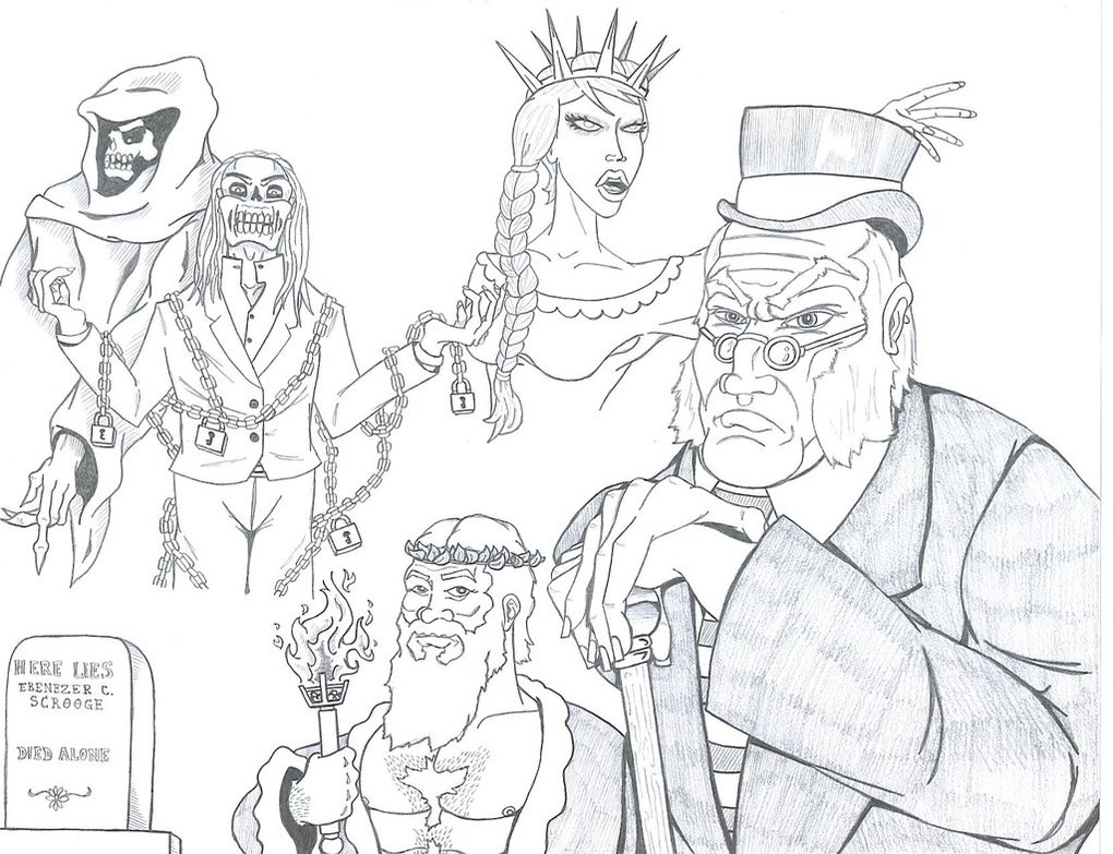 1020x783 A Christmas Carol Coloring Pages