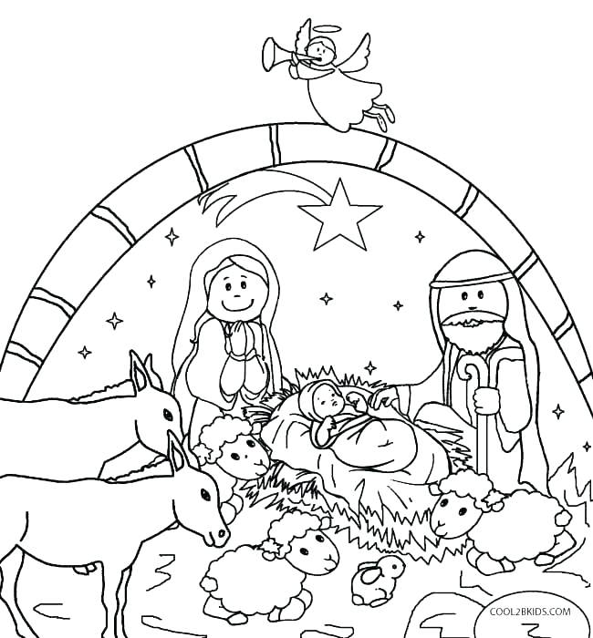 650x700 Nativity Coloring Pages Printable Nativity Coloring Page Nativity