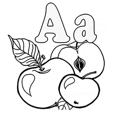 230x230 Letter A Coloring Pages