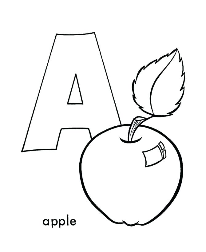 670x820 Preschool Coloring Pages Alphabet