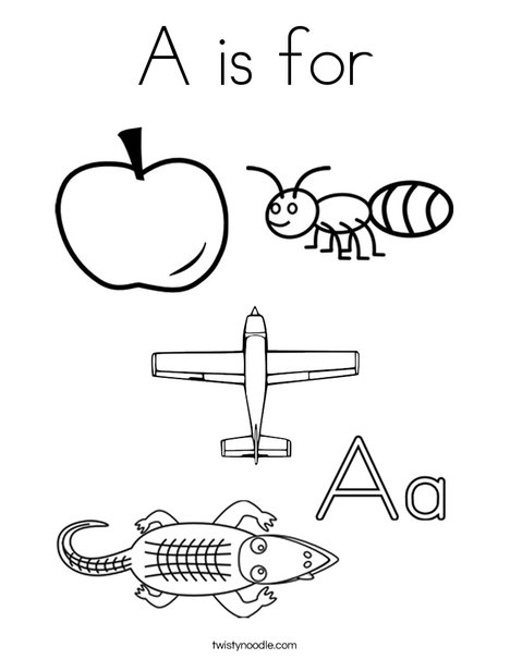 468x605 A Is For Coloring Page