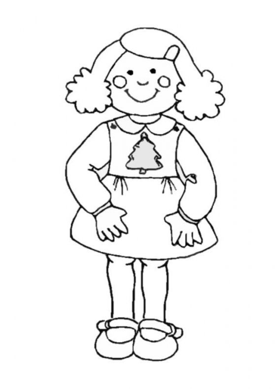 A Girl Coloring Pages