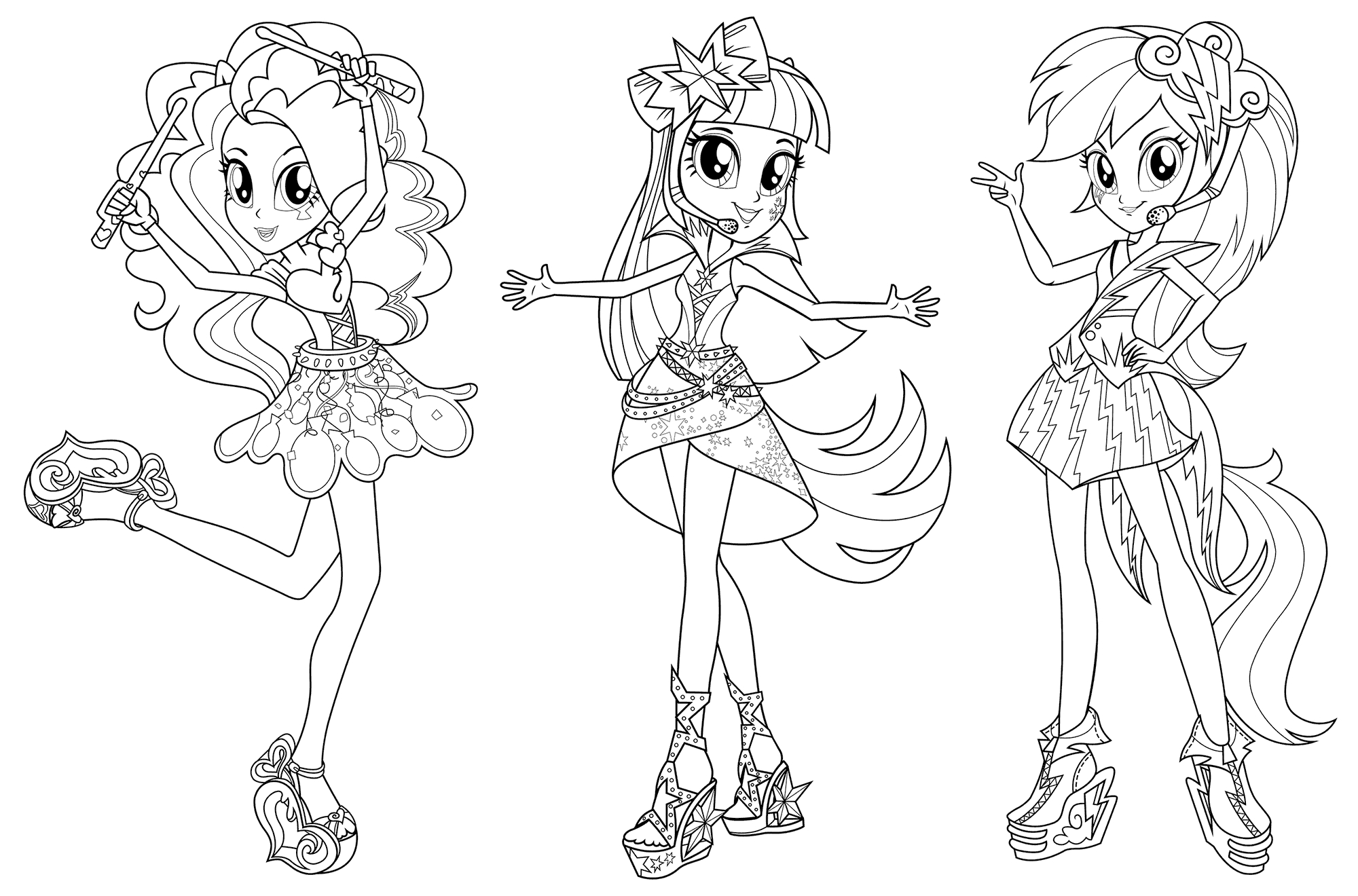 2000x1320 Equestria Girls Coloring Page Collection