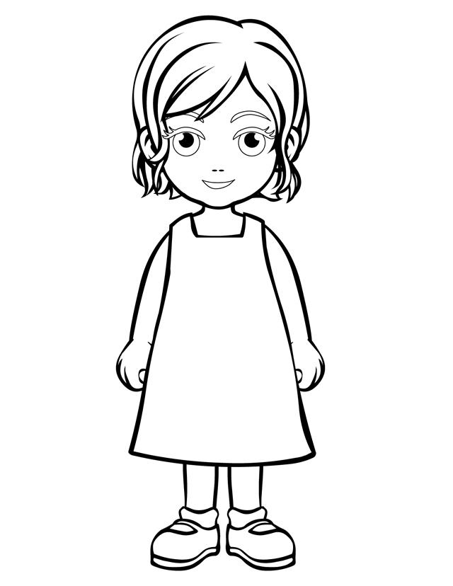 640x828 A Girl Coloring Page Person Coloring Pages Daughter Free Printable
