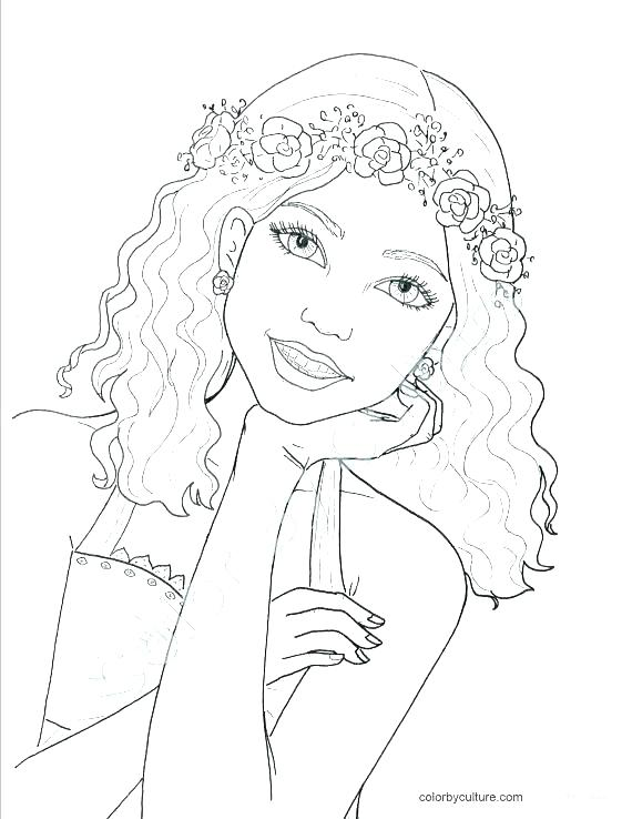 570x738 Coloring Page For Girls Professional