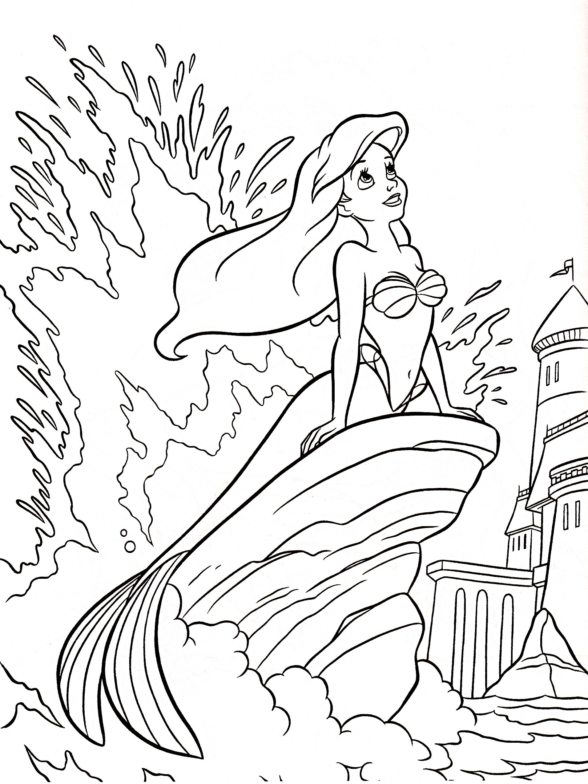 1910x2545 A Is For Ariel Color Page Ariel Coloring Page The Little