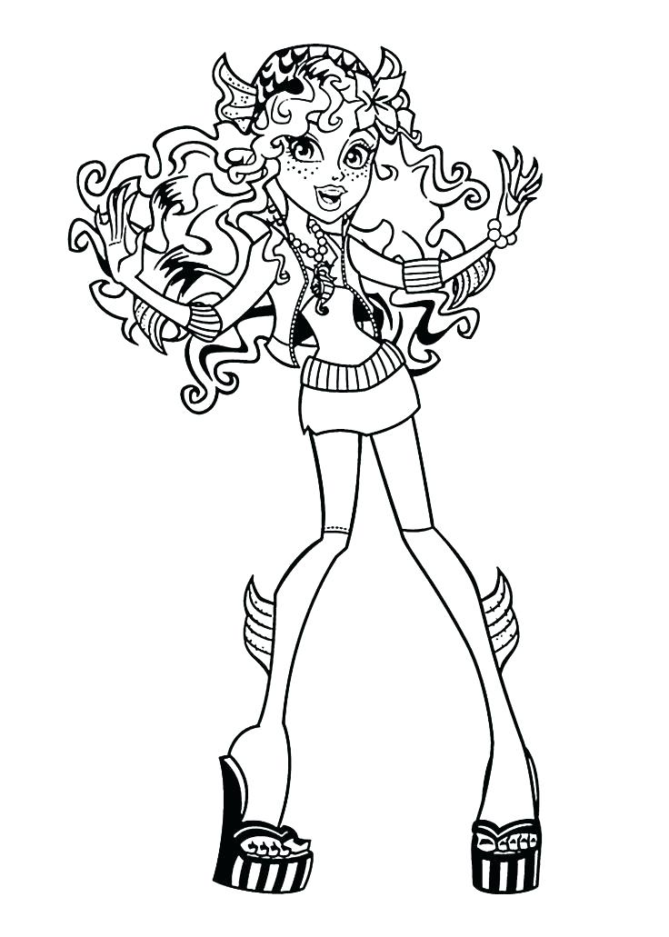 736x1031 Monster High Coloring Pages Print Monster High Free Blue Monster