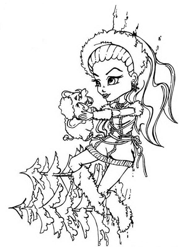 Abbey Monster High Coloring Pages At Getdrawings Com Free For