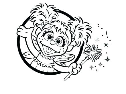 440x330 Sesame Street Abby Coloring Pages