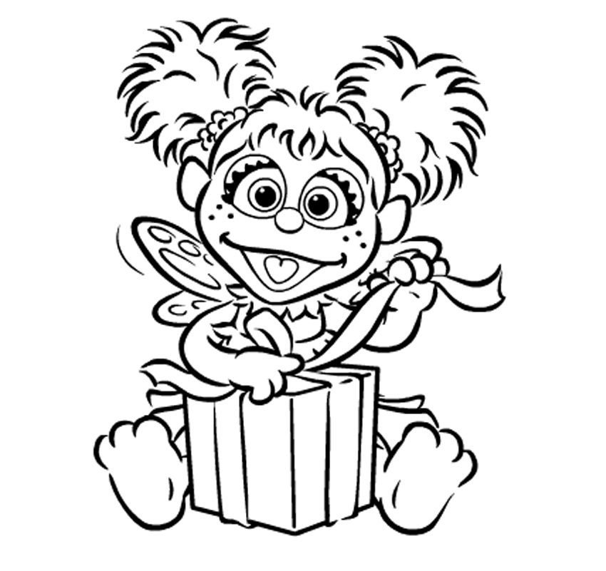 850x801 Abby Cadabby Coloring Book
