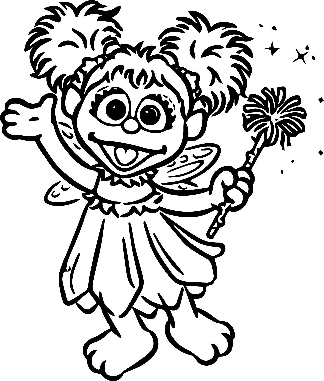 1281x1505 Tattly Sesame Street Characters Ab Cadab Grande Coloring Page Abby