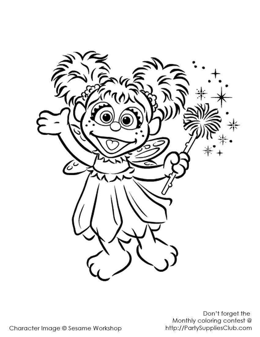 Abby Coloring Pages