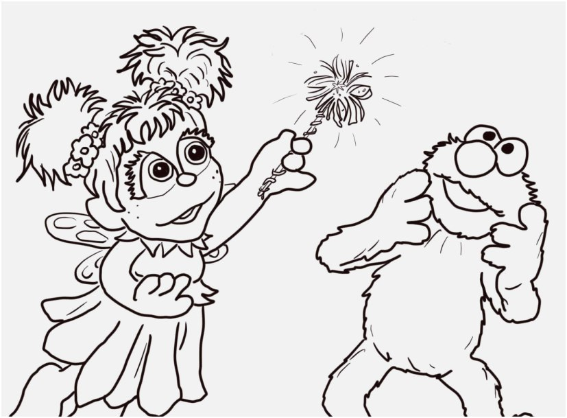 827x609 Elmo Coloring Pages Concept Abby Cadabby And Elmo Coloring Page