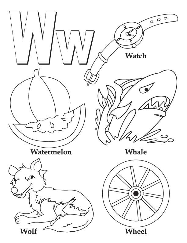 612x792 W Coloring Page Abc Alphabet Coloring Sheets Abc Whale Animals