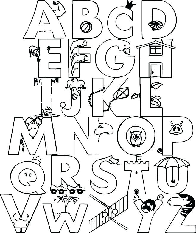 658x780 Alphabet Animals Coloring Pages Cute Animal Alphabet Coloring