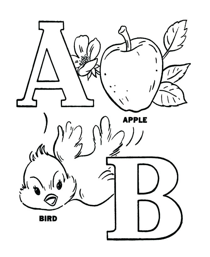 670x820 Alphabet Animals Coloring Pages Free Printable Individual Alphabet