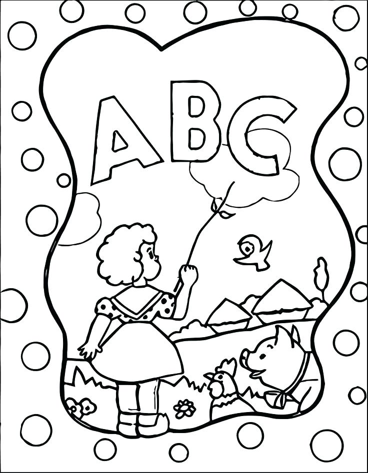736x947 Coloring Pages Abc Pictures To Color Coloring Page Free Alphabets