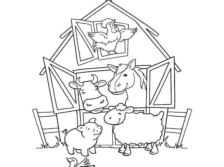 773x576 Farm Animal Colouring Pages Abc Animal Coloring Pages Elegant