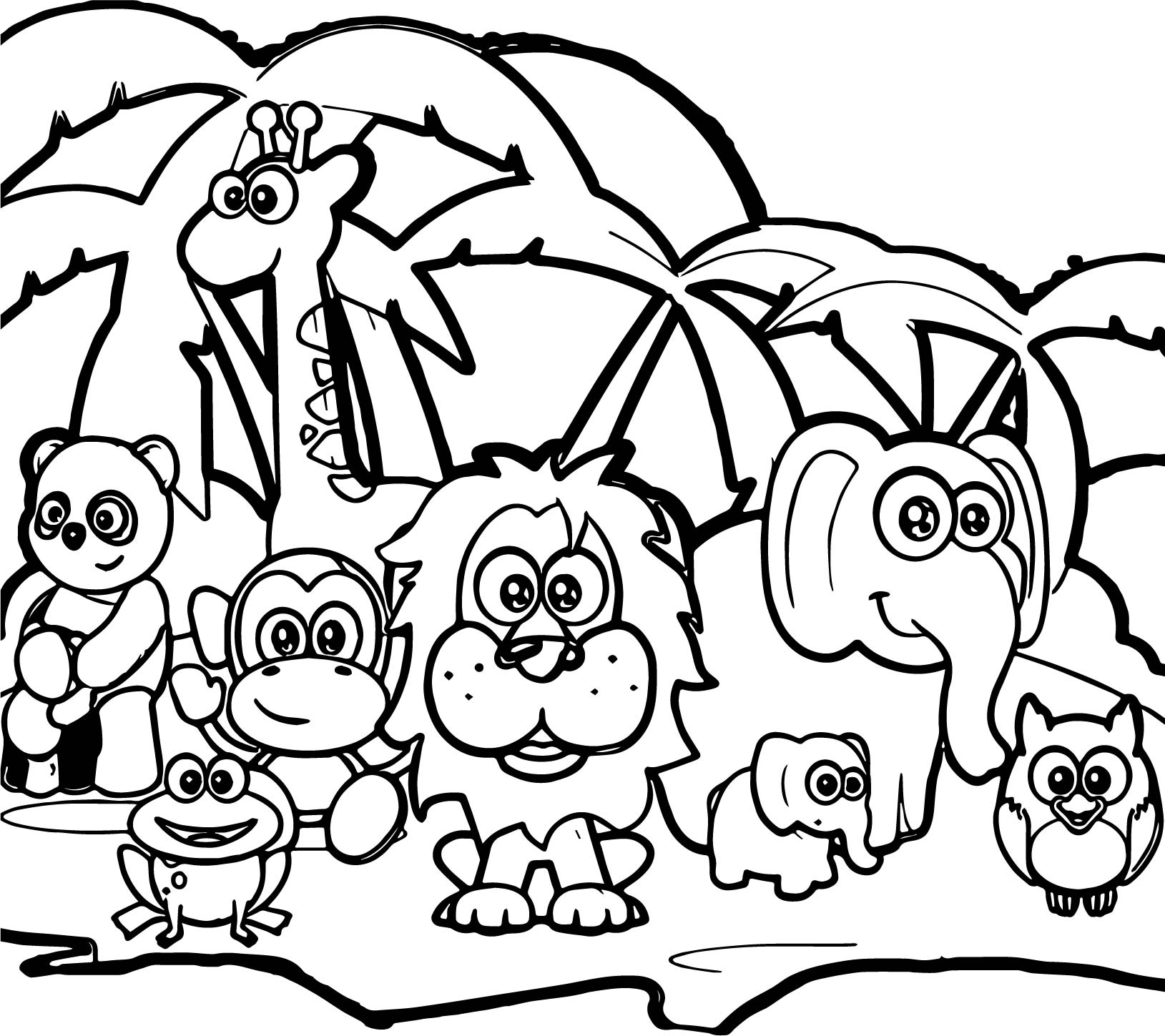 1629x1449 Moose In The Forest Free Animal Coloring Pages Adorable Animals