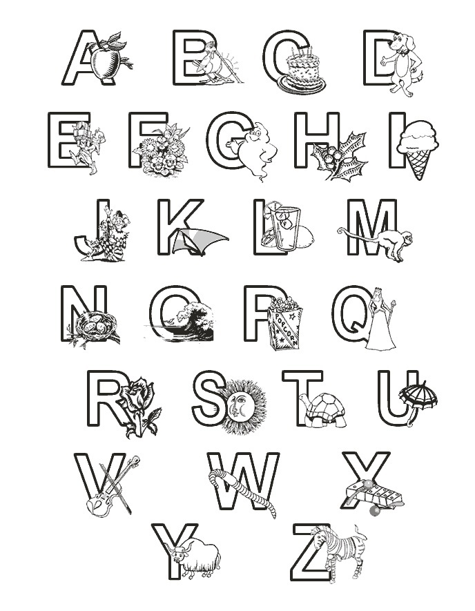 688x885 Printable Abc Coloring Pages