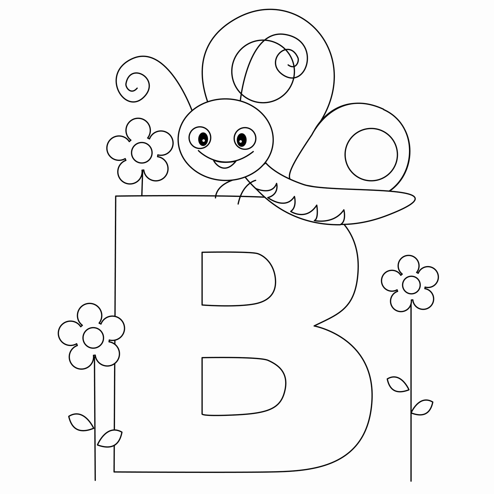 1732x1732 Abc Coloring Pages Inspirational Animal Alphabet Letter B Is