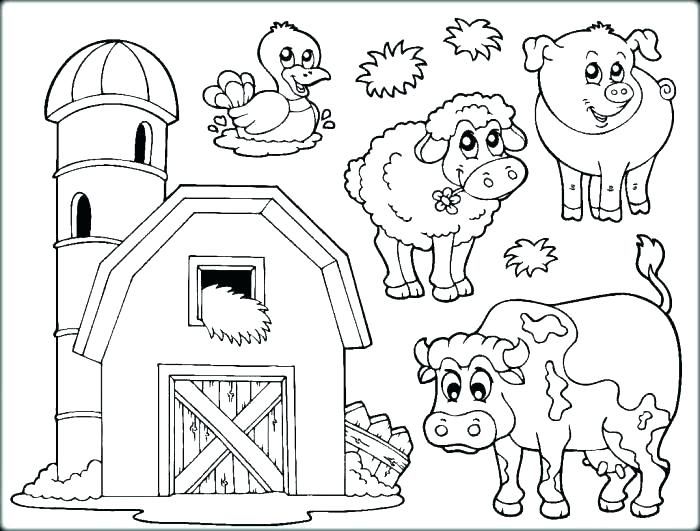 700x531 Abc Farm Animal Coloring Pages Book Together With Printable