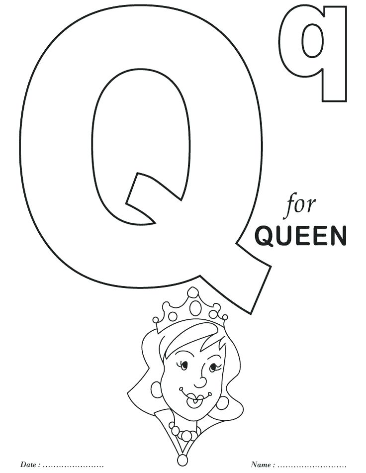 736x951 Coloring Pages Alphabet Learning Letter Q Coloring Page Printable
