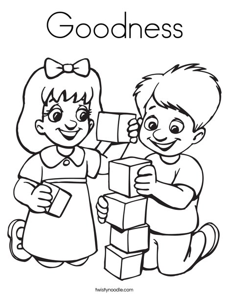 468x605 Goodness Coloring Page