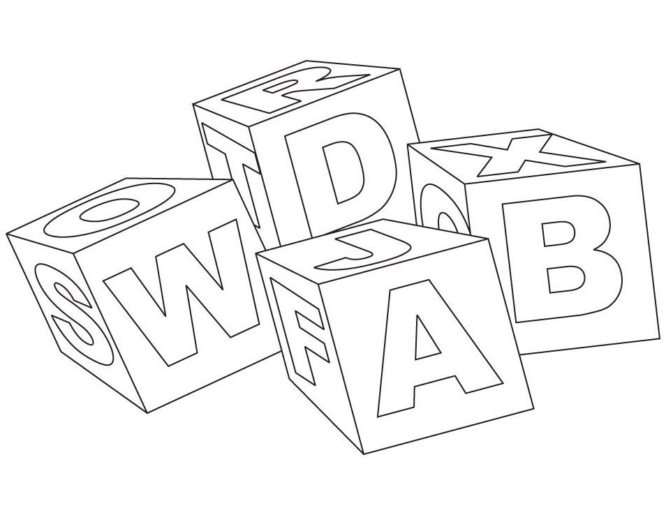 954x738 Abc Blocks Coloring Pages Coloring Pages