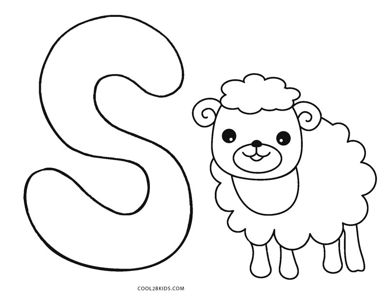 800x618 Free Printable Abc Coloring Pages For Kids