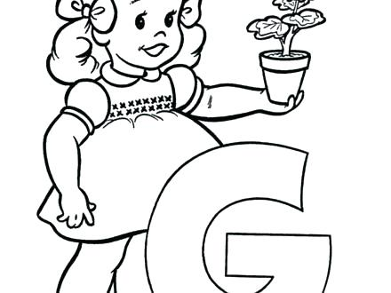440x330 Letter Coloring Pages Kindergarten G Sheets Page Home F