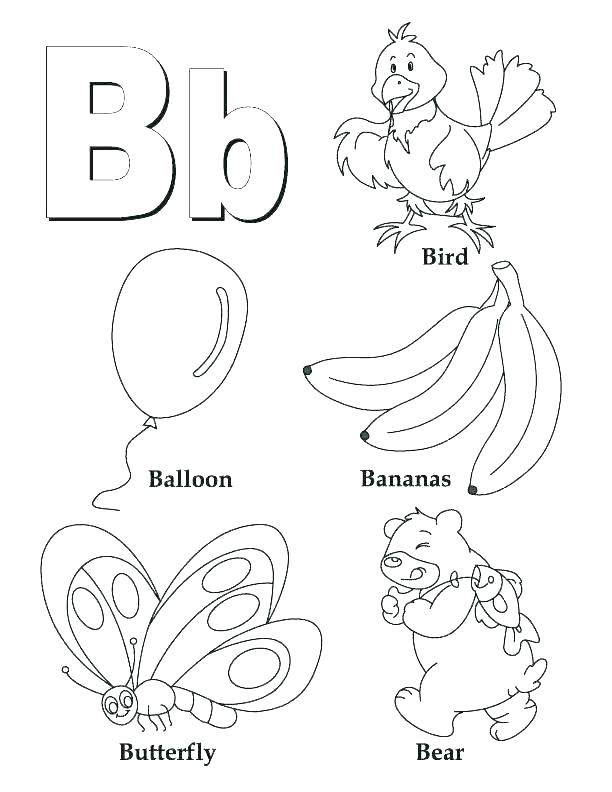 612x792 Letter Coloring Pages Kindergarten Printable W P Fuhrer Von