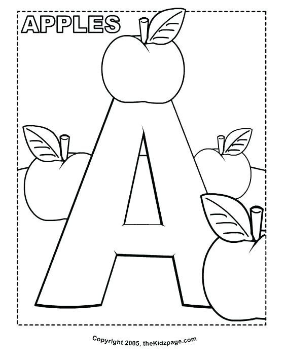 564x714 Abc Coloring Pages For Kindergarten Free Letter Coloring Pages
