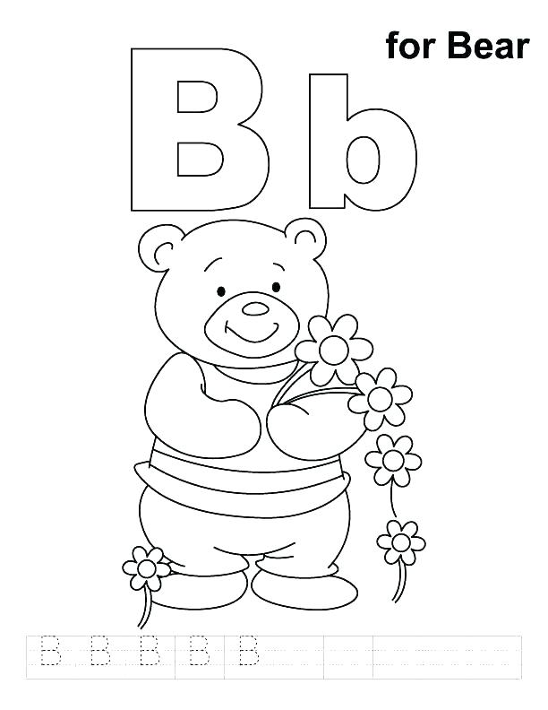 612x792 Abc Coloring Pages For Preschoolers Coloring Page Letter B Letter