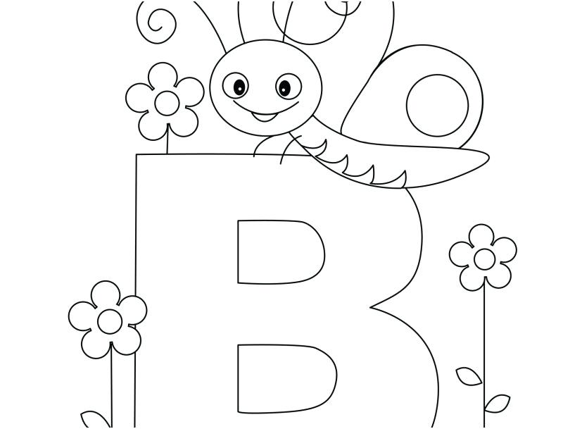 827x609 Alphabet Coloring Pages Printable Free Animal Alphabet Letter B Is