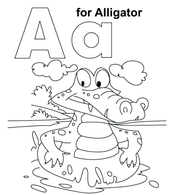 600x672 Abc Coloring Pages Free Letter Coloring Pages With Letter