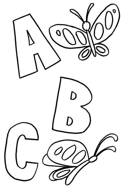 496x748 Abc Coloring Pages Printable Abc Me Readgyan Abc Coloring Pages