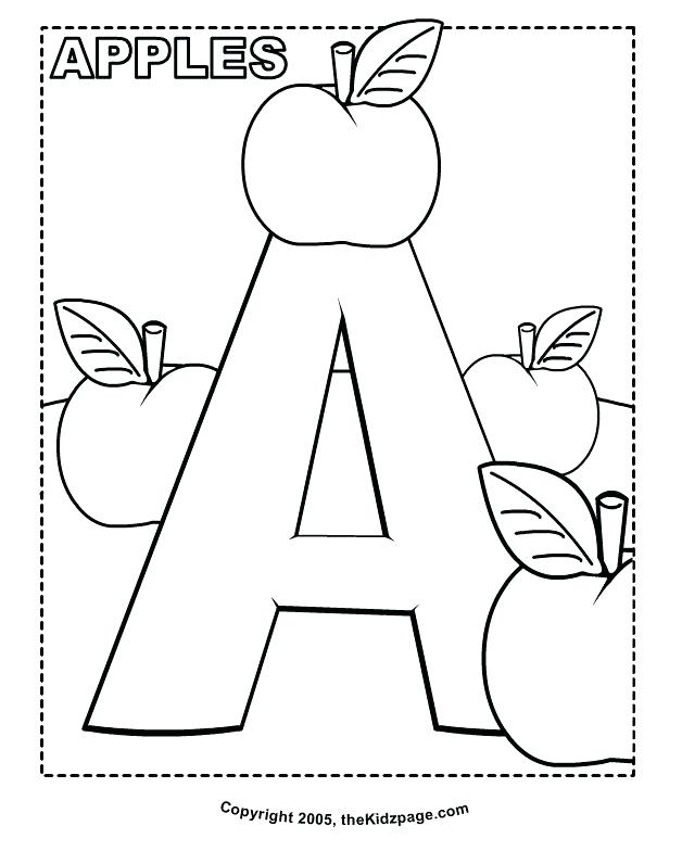 628x796 Abc Coloring Page Coloring Pages For Kindergarten Printable Letter
