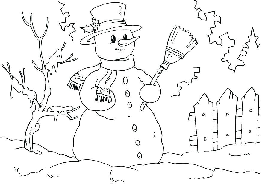 875x620 Snowman Color Pages Snowman Color Page Snowman Color Page Snow Man