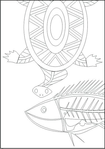 400x565 Aboriginal Colouring Sheets Aboriginal Animals Pictures Symbols