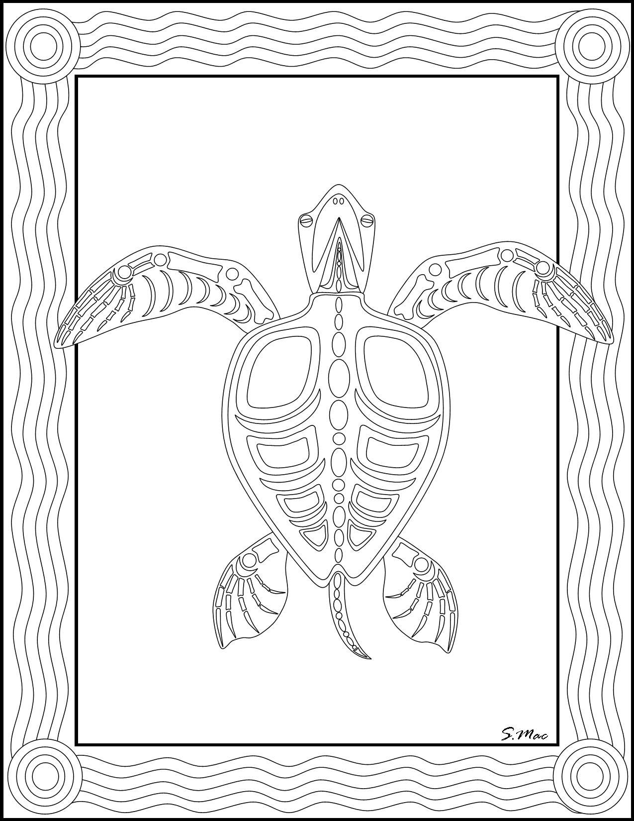 1275x1650 Australian Aboriginal Coloring Pages Color Bros