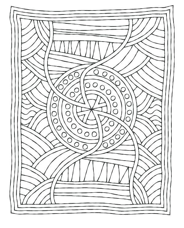 600x741 Free Aboriginal Dot Art Colouring Pages Coloring Printable Mosaic