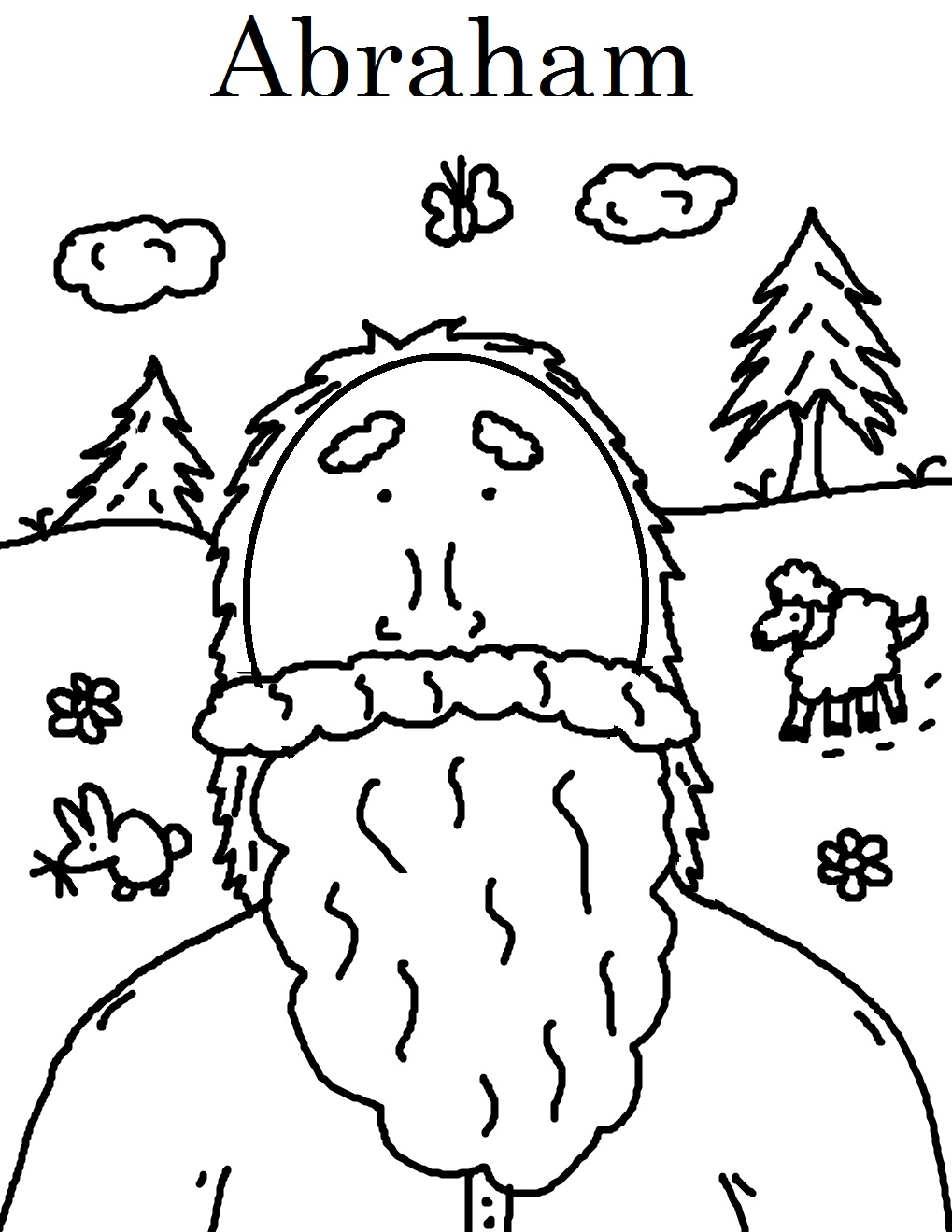 1019x1319 Abraham Bible Coloring Pages School Inside With And Lot Creative